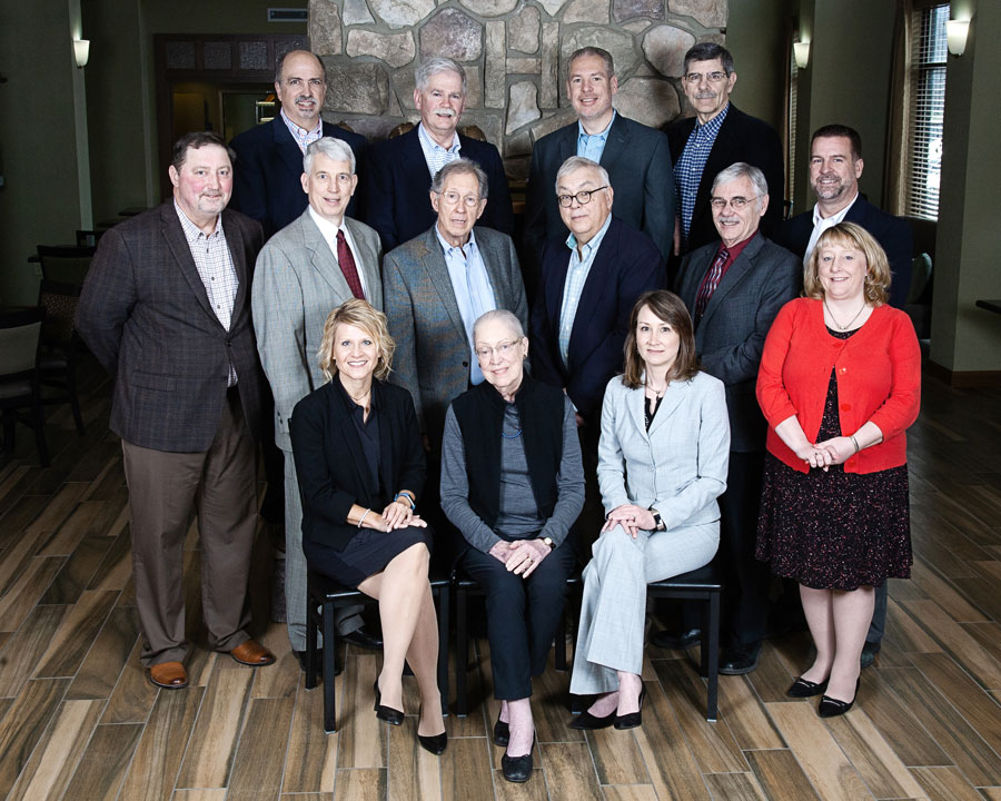 The board of trustees group photo.