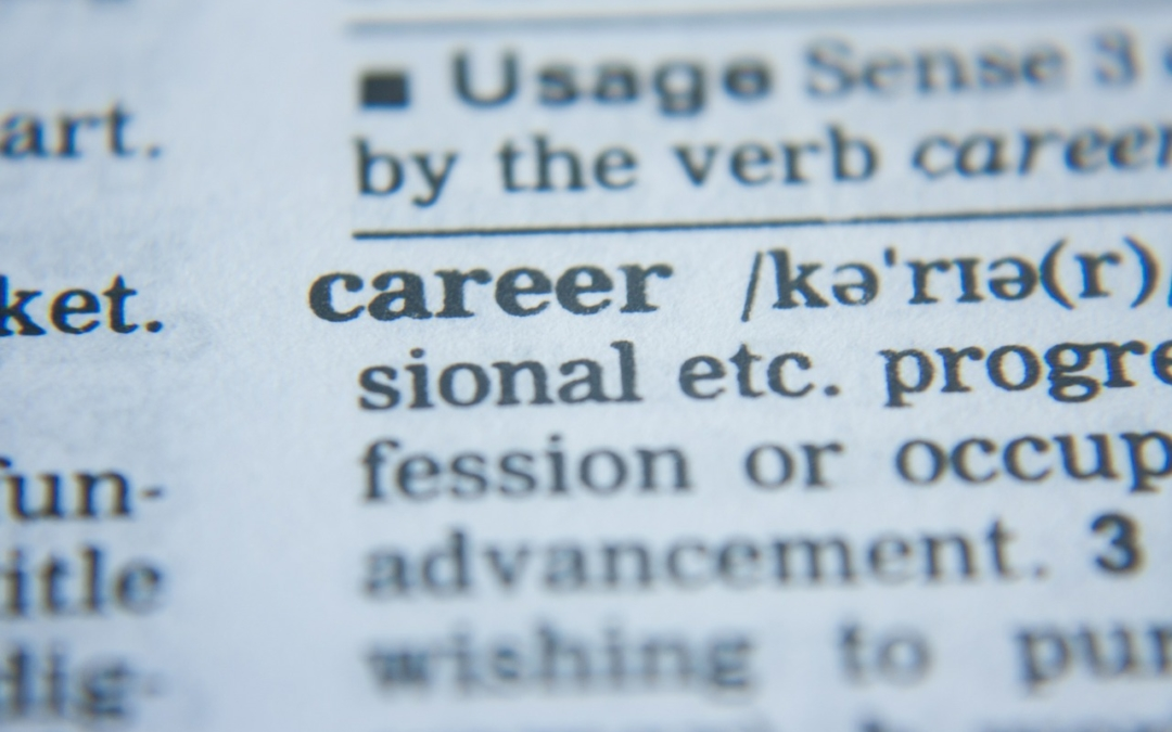 Dictionary entry for the word career